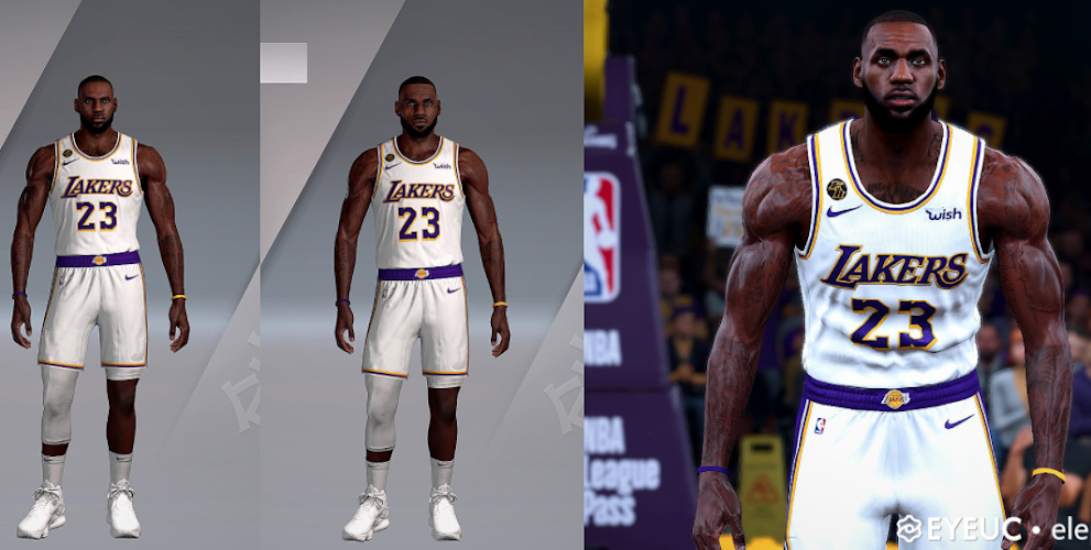 Lebron James Cyberface and Body Model By Elephant Killer [FOR 2K21]