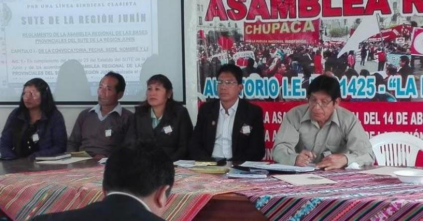 SUTEP Junín ratifica huelga nacional indefinida para el lunes 18 de junio