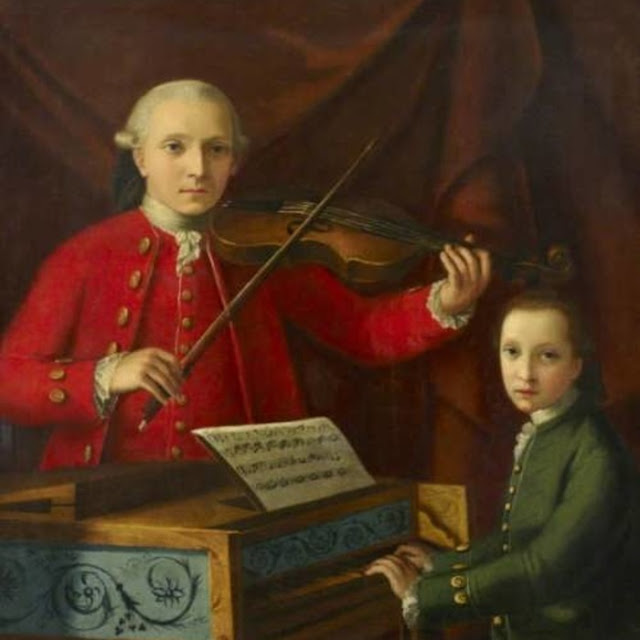 Amadeus com o pai