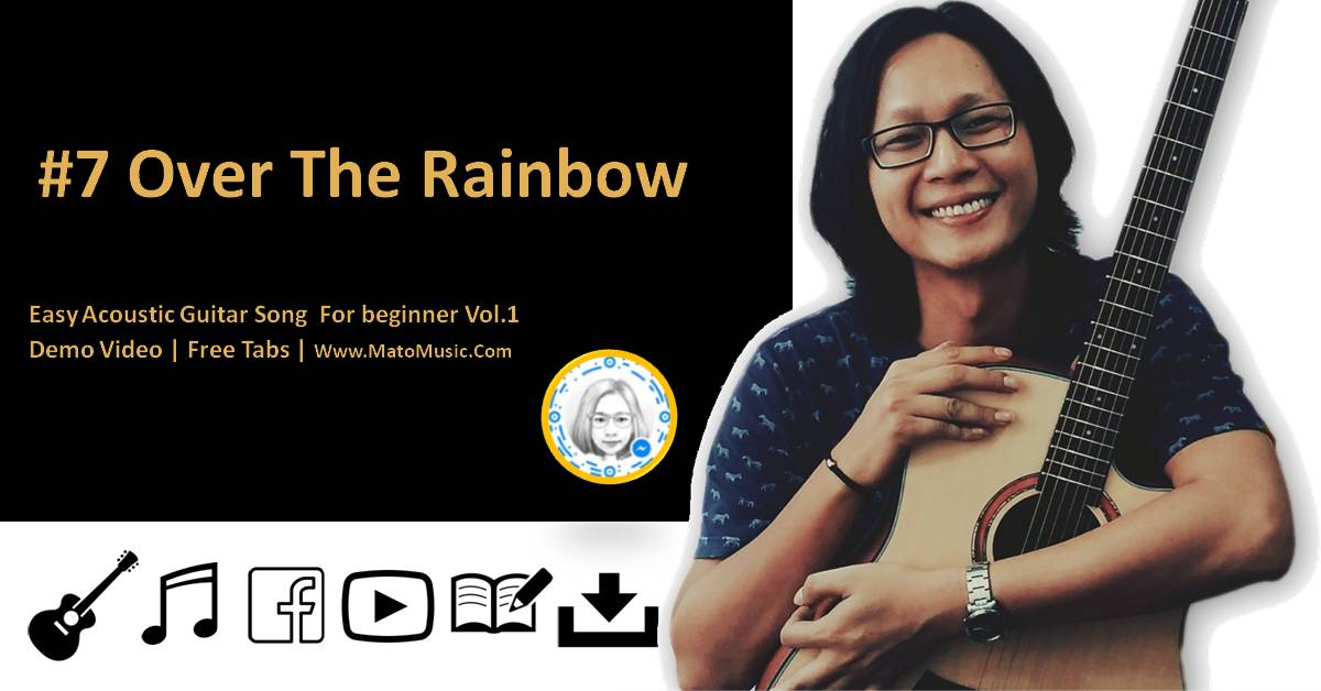 Over The Rainbow Acoustic Guitar Tabs For Beginner | Video | Tabs by mato music