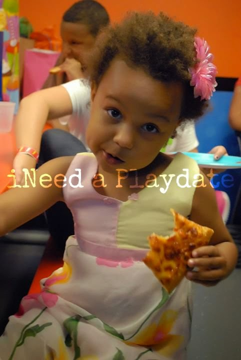 SkyZone Pizza in the Party Room