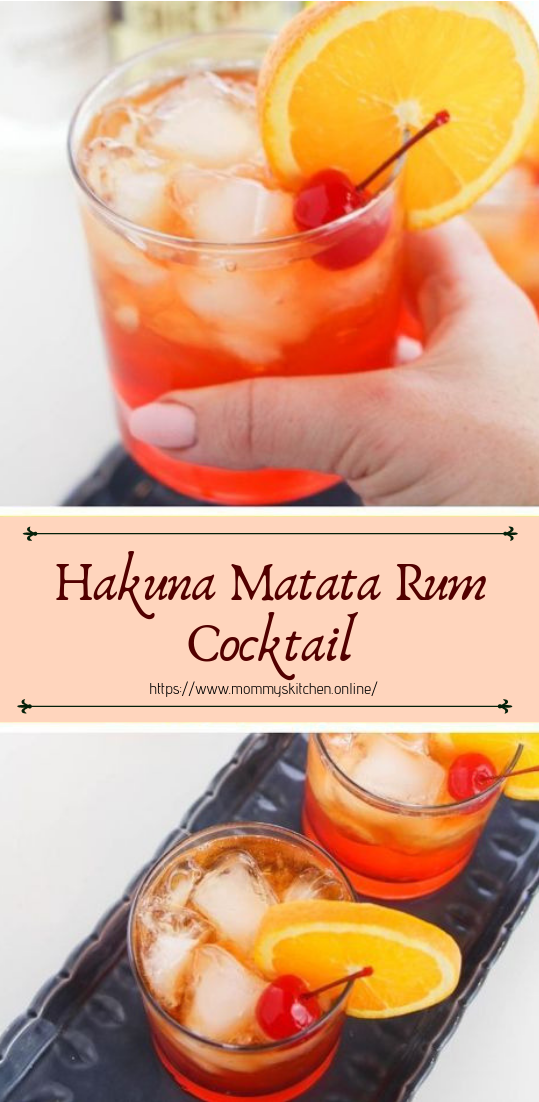 Hakuna Matata Rum Cocktail #healthydrink #easyrecipe #cocktail #smoothie