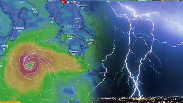 Ο «Ιανός» φαίνεται να αλλάζει πορεία - Τι προβλέπει το windy.com