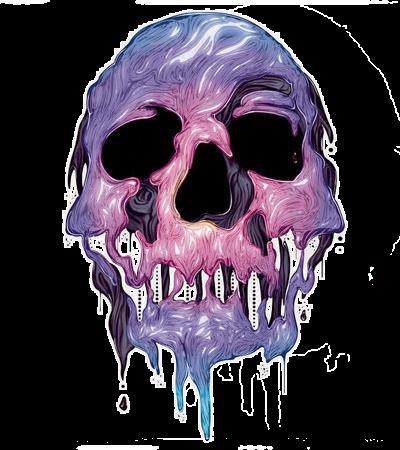 Purple Girl Candy Skull Wallpaper Photoscape Brushes Darkart Caveirinhas