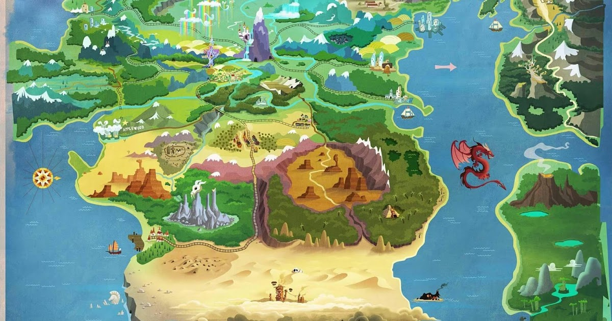 Mlp Equestria Map Equestria Daily   MLP Stuff!: Map of Equestria Updated for the
