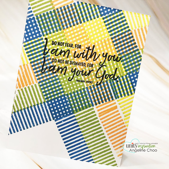 ScrappyScrappy: Unity Stamp Ann Butler Background Builders  #scrappyscrappy #unitystampco #annbutler #backgroundbuilders #cardmaking #card #papercraft #stamping #youtube #quicktipvideo #quiltpattern #backgroundstamp #gracielliedesign #mementodyeink #sentimentkit #iamwithyou #bibleverse