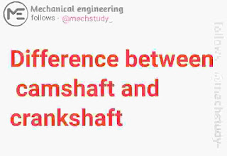 Crankshaft as well as camshaft are 2 basic component of an internal combustion  Difference betwixt crankshaft as well as camshaft