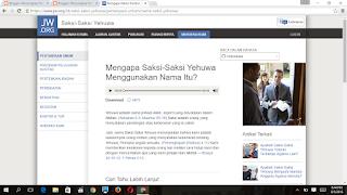 situs resmi saksi yehuwa jw.org/id menjelaskan alasan mengapa mereka menggunakan nama itu