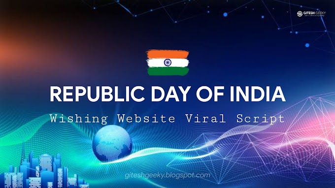Download Republic Day Wishing Script Premium for Blogger/WordPress and Earn Money - 26 January