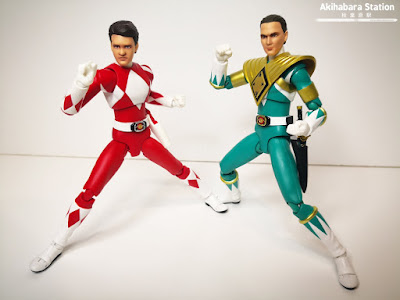 "Figuras: Review de Red Ranger Esclusive y Green Ranger Exclusive de ""Mighty Morphin Power Rangers"" - Tamashii Nations"