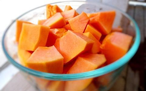 Cara membuat jus pepaya campur buah nanas