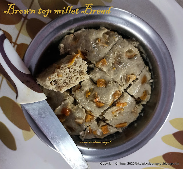 Brown top millet bread