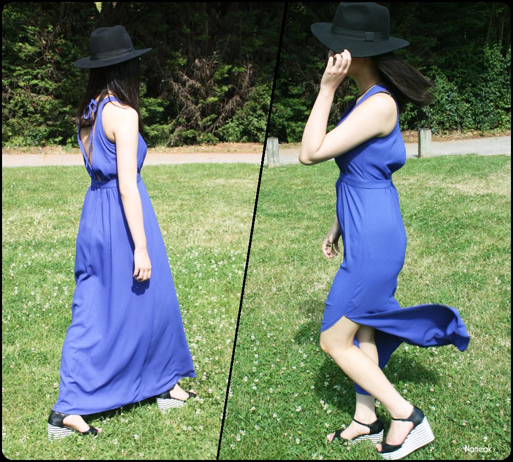 Une très belle robe bleue roi dos nu à 12 € (et une astuce soutien ... 57e949c0fe2