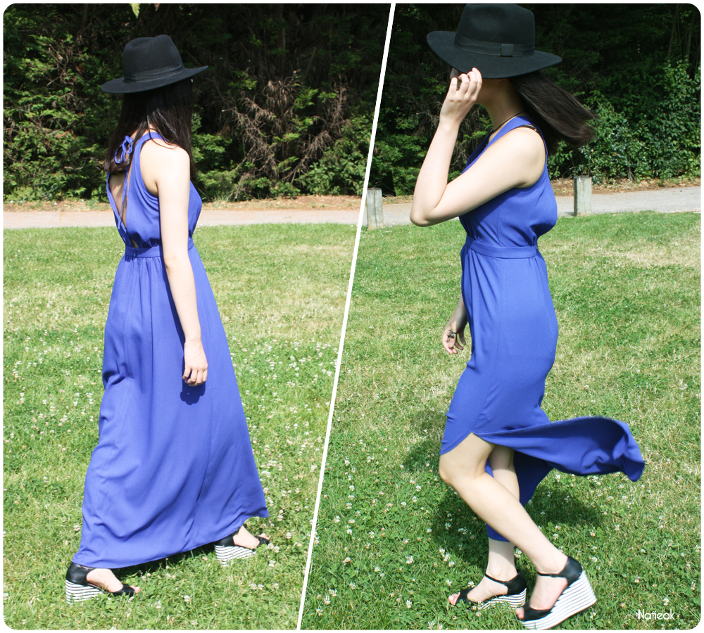 robe longue bleue roi de La redoute