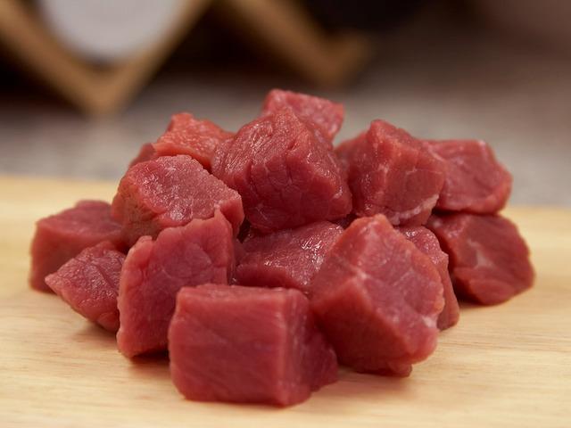 Würfel aus Rindfleisch