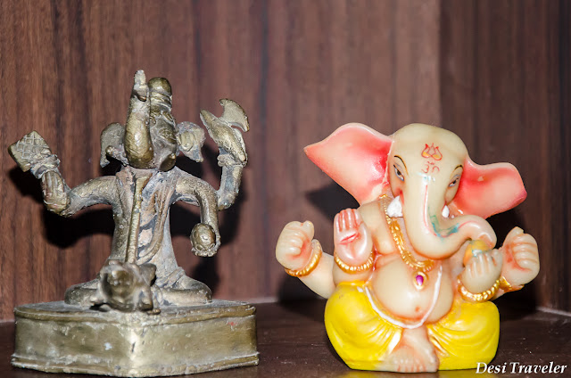 a rare Ganesha idol made with metal alloy