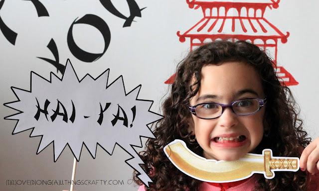 DIY Ninjago Birthday Party Photo Booth