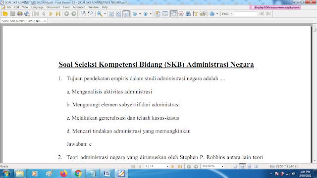 Download contoh soal pppk bidang administrasi negara dan kunci jawaban