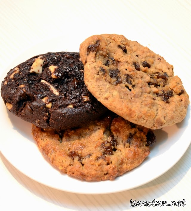 #5 Chunky Double Chocolate Cookie - RM4.50, Oatmeal Cinnamon Raisin Cookie - RM4.50