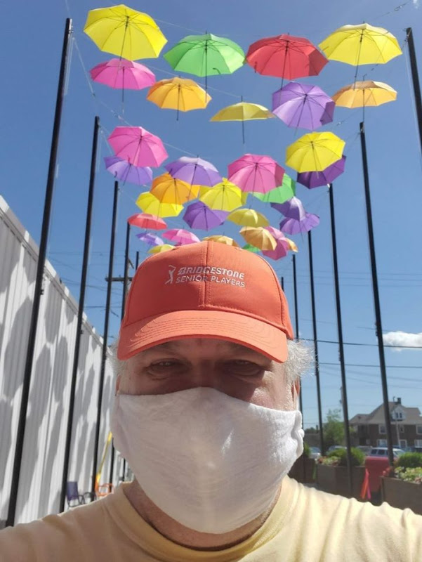 Anthony McCune, selfie, at Umbrella Alley, Louisville, Ohio