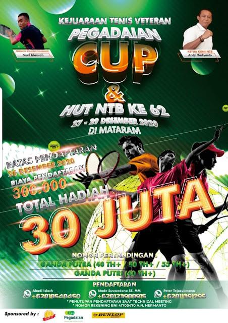 Turnamen Tenis Pegadaian Cup dan HUT NTB ke 62