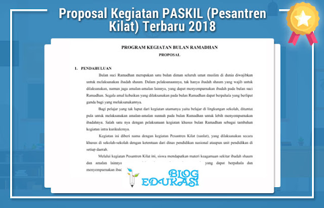 Proposal Kegiatan PASKIL (Pesantren Kilat) Terbaru 2018