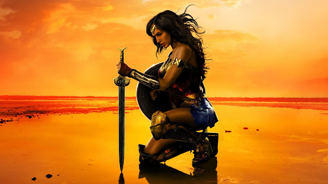 wonder_woman-movie-2017-kneeling-(13811), Gal Gadot, Chris Pine, DC Comics