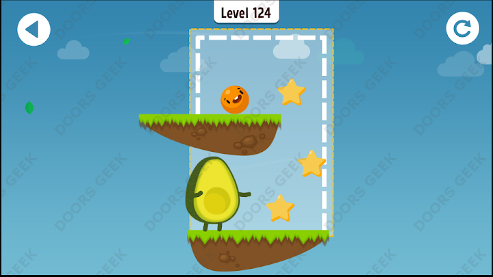 Where's My Avocado? Level 124 Solution, Cheats, Walkthrough, 3 Stars for Android, iPhone, iPad and iPod
