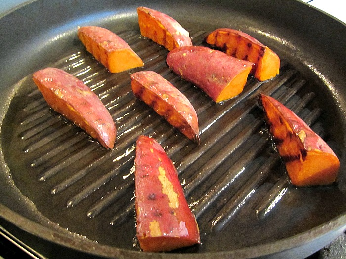 Grilled sweet potatoes w bagna cauda