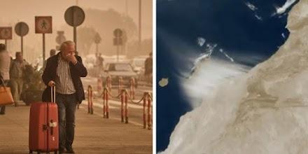 Τεράστια αμμοθύελλα από τη Σαχάρα σκέπασε τα Κανάρια Νησιά (ΦΩΤΟ+VIDEO)