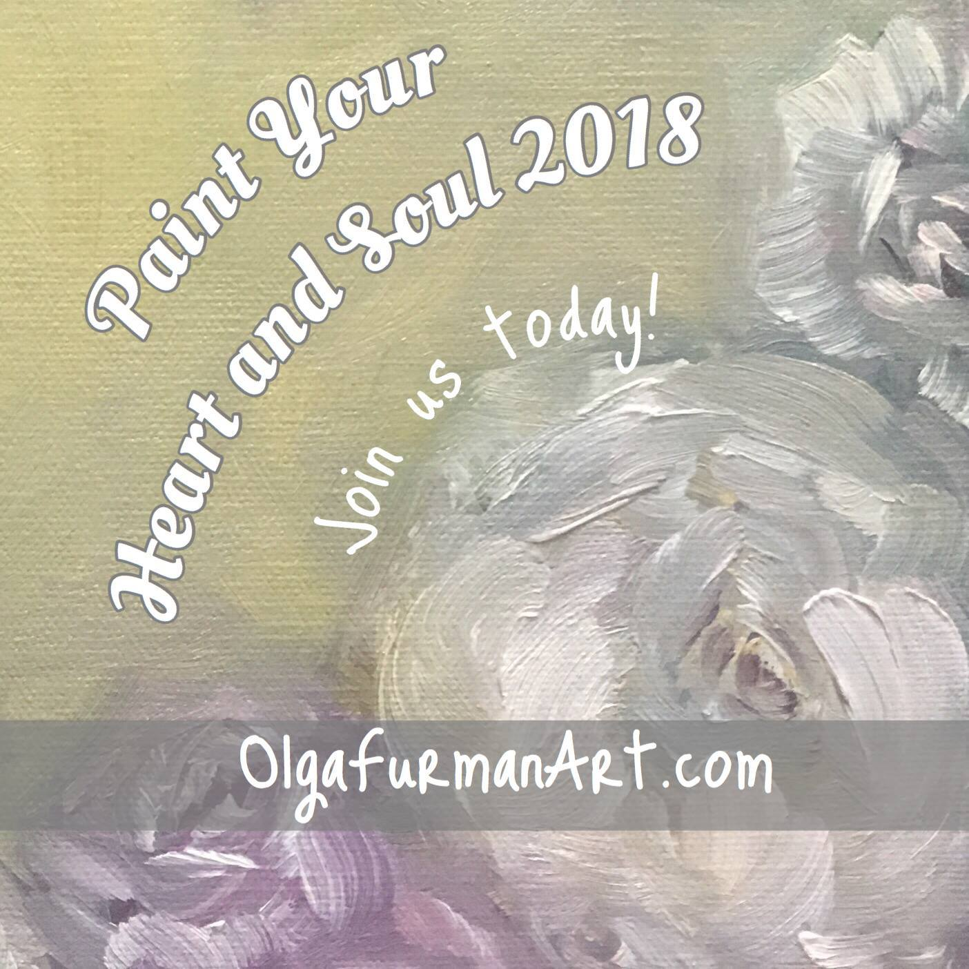 PAINT YOUR HEART & SOUL ~ BEGINNING JAN. 2018