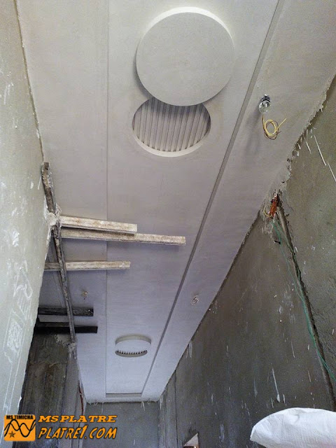 Faux plafond pour le couloir - platre