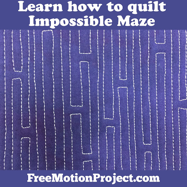 Learn how to quilt Impossible Maze in a beginner quilting tutorial with Leah Day