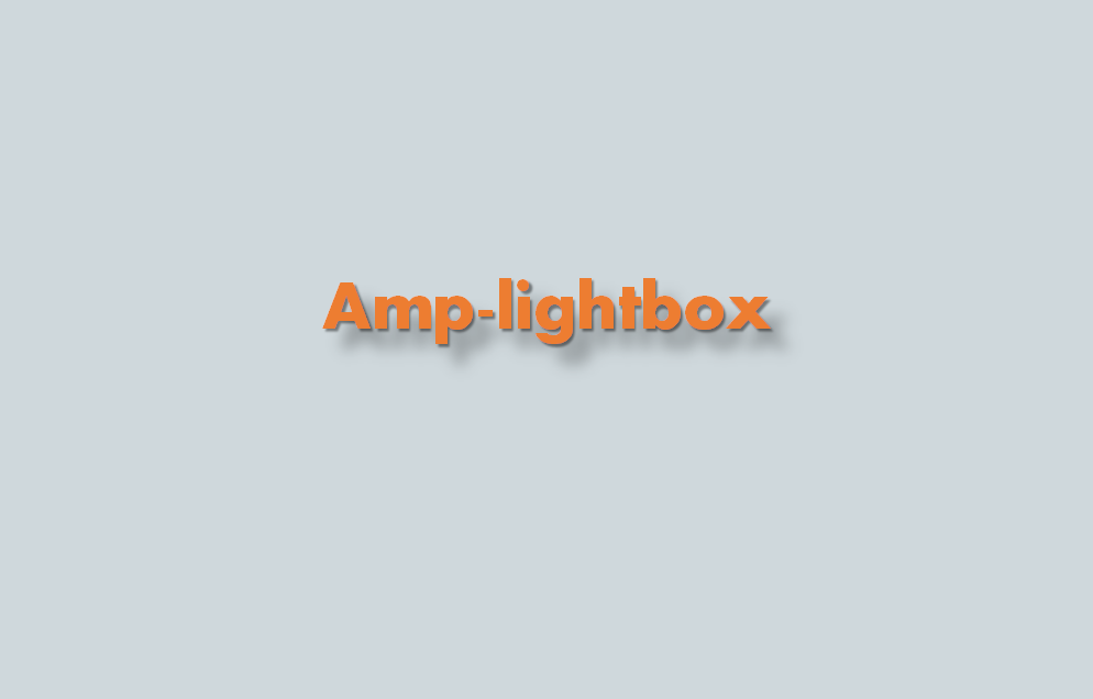 ¿Cómo añadir amp-lightbox?