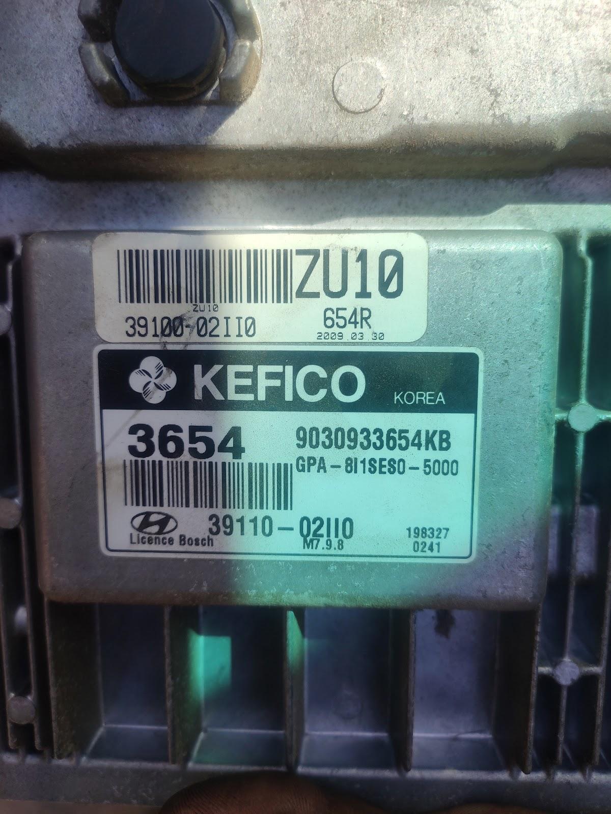 Hyundai I20 Used Ecm Kefico Ecu Hyundai