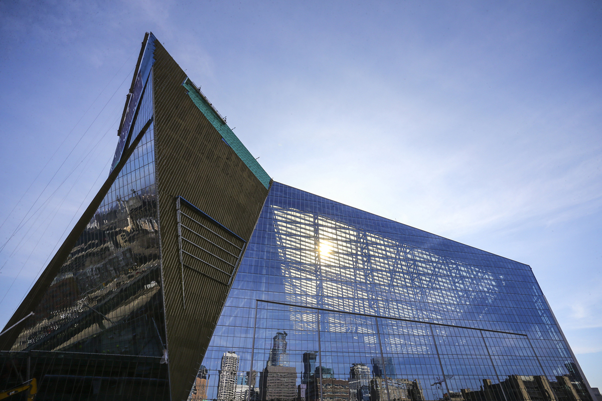 presentazione us bank stadium minneapolis superbowl