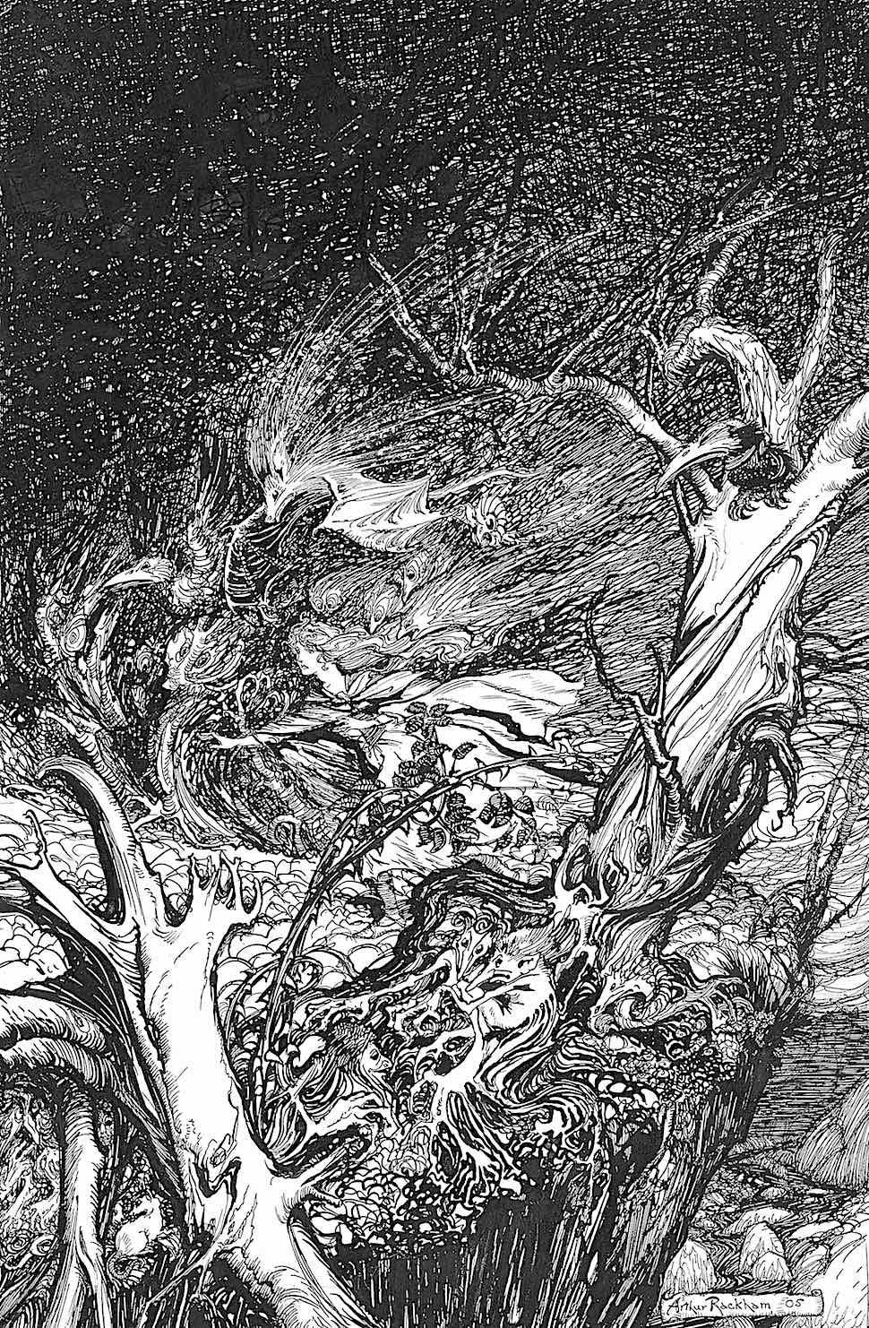 an Arthur Rackham illustration