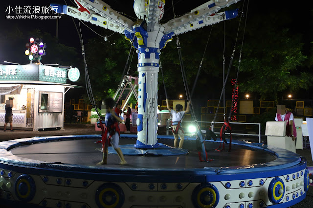 新竹走跳貨櫃市集遊樂設施,動力彈跳