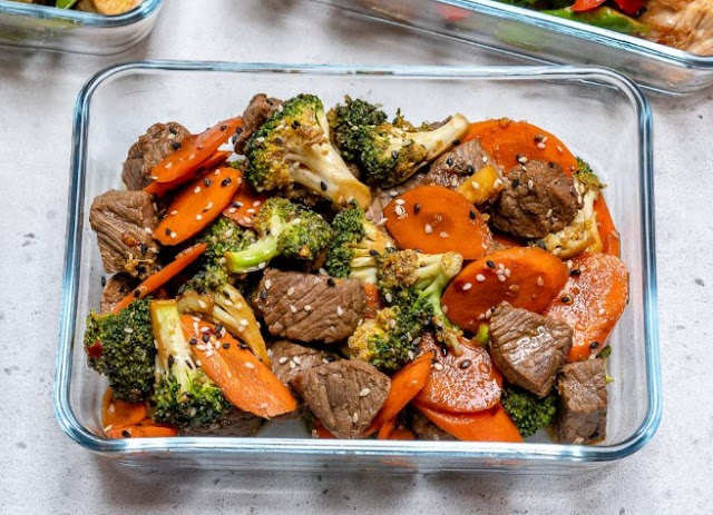 Easy Beef Stir Fry for Clean Eating Meal Prep #healthy #lunch