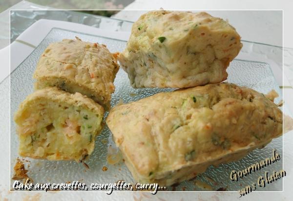 """Cake en """"C"""" sans gluten aux Crevettes, Courgettes, Curry..."""