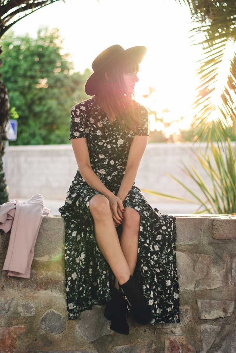 Flowered Dress Bershka