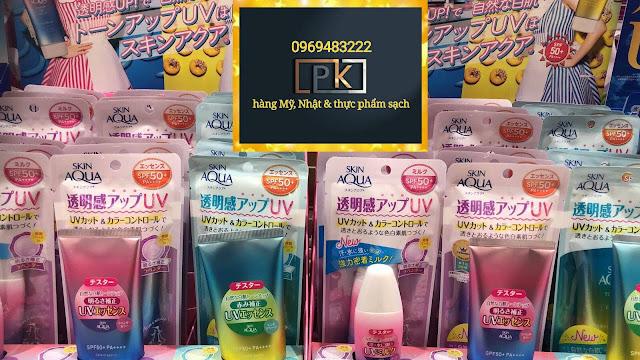 Kem chống Skin Aqua Tone Up UV Essence, hàng Nhật