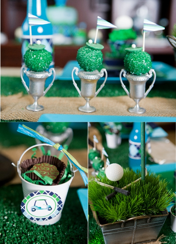 Father s day party ideas a green blue argyle golf par
