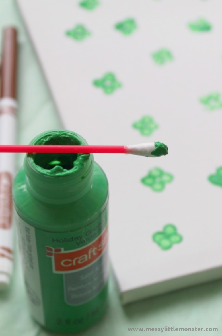 easy painting ideas for kids with q tips