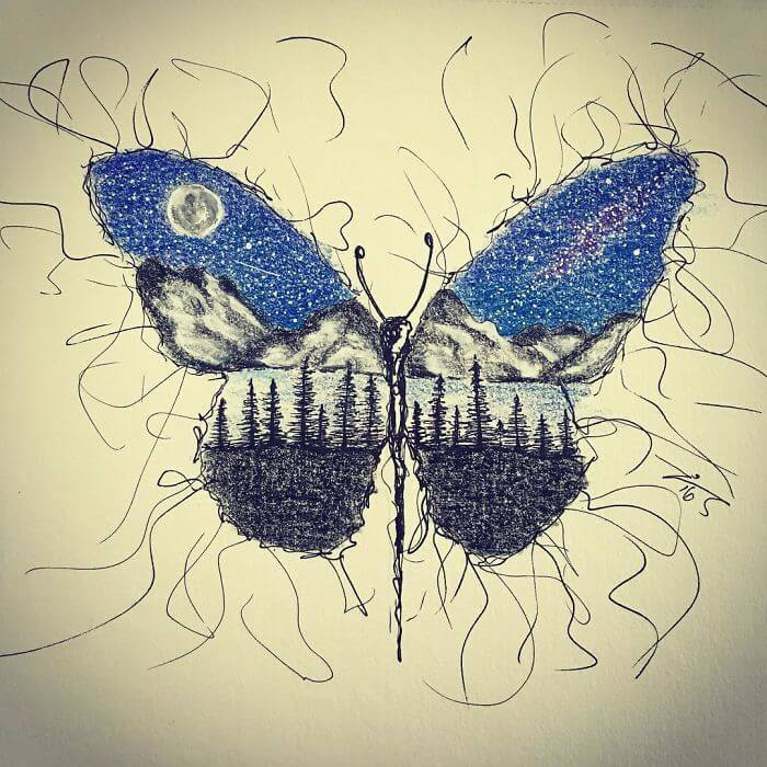 06-Butterfly-moon-and-stars-Jimmy-Mätlik-www-designstack-co