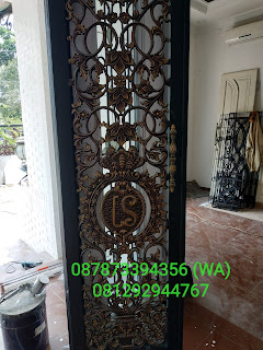 pintu besi tempa klasik kavling marinir