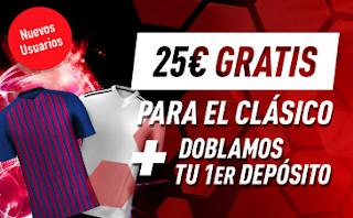 sportium 25€ Gratis para el Clásico + 200€ bienvenida 18-28 octubre