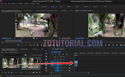 Open Video Goyang (Shaky) ke Timeline Adobe Premier Pro
