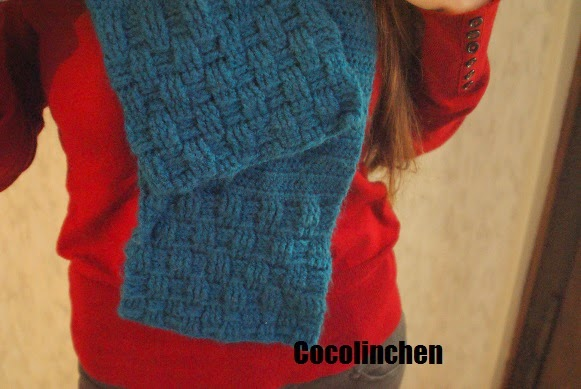 Cocolinchen Gehäkelter Schal Mit Korbmuster