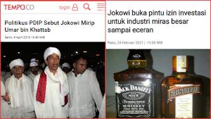 Investasi Miras Disahkan, Netizen Ingatkan Jokowi Pernah Disebut Mirip Umar bin Khattab